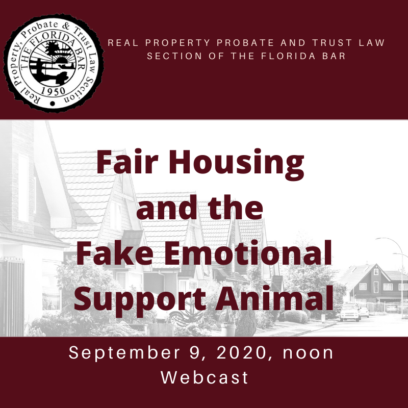Fair Housing and the Fake Emotional Support Animal