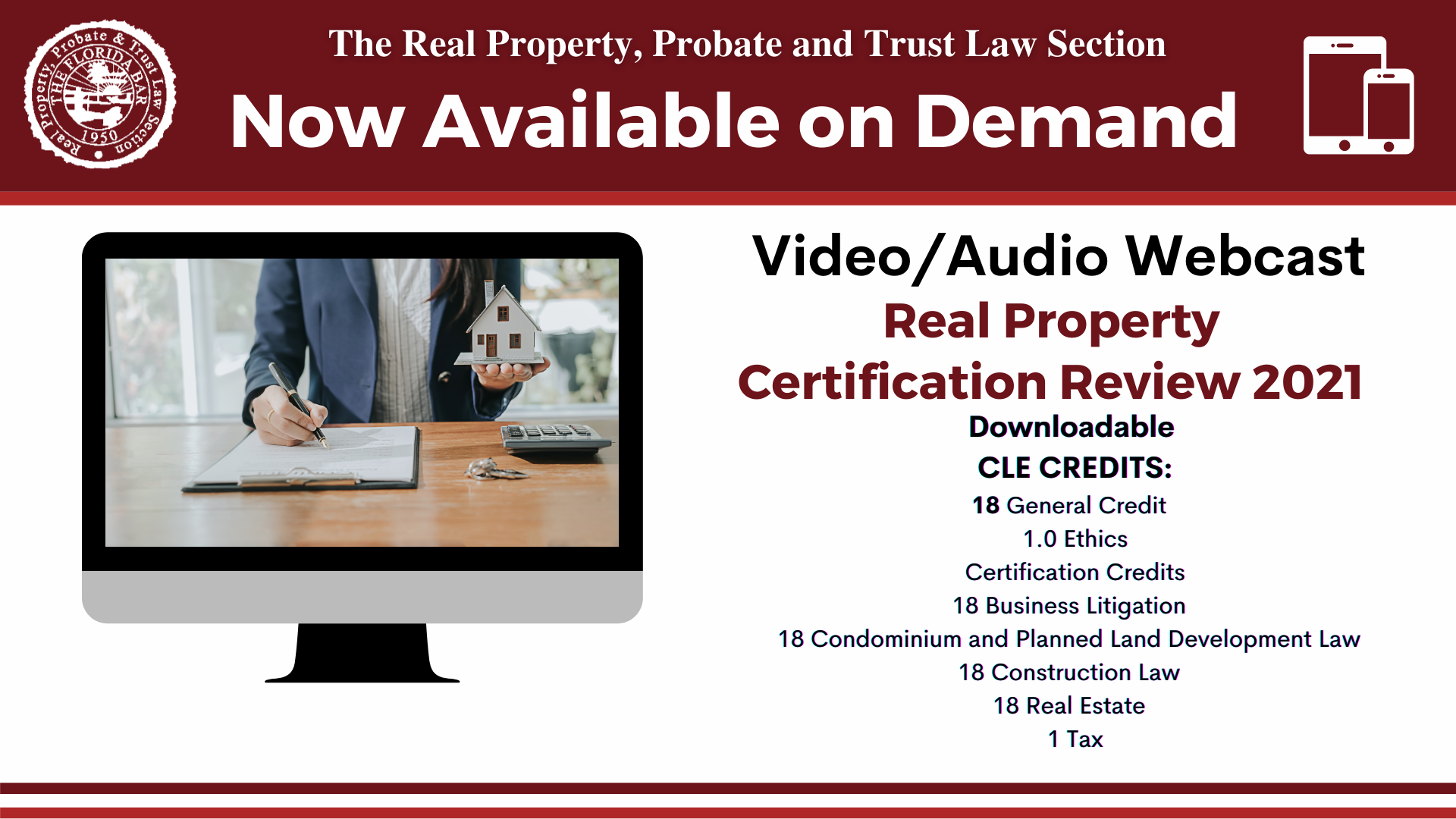 Real Property Certification Review Course Available On Demand